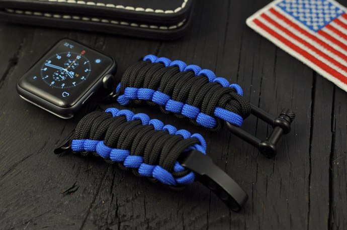 Paracord Band Compatible with Apple Watch Series 1 2 3 4 Strap 38/40/42/44mm,