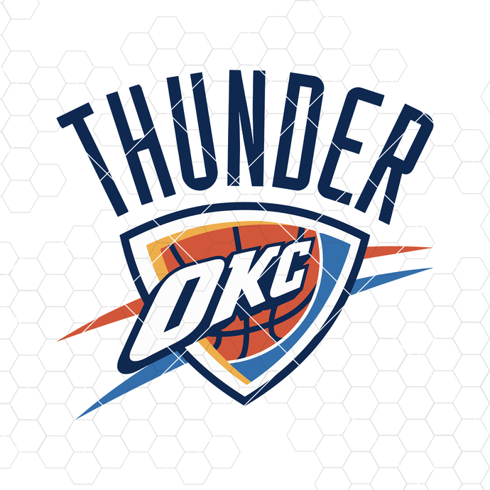 Oklahoma City Thunder Digital Cut Files Svg, Dxf, Eps, Png, Cricut Vector,
