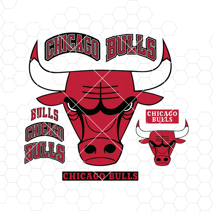 Chicago Bulls Digital Cut Files Svg, Dxf, Eps, Png, Cricut Vector, Digital Cut