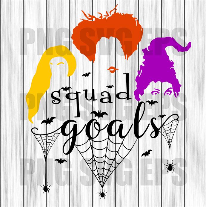 Squad goals svg, squad goals halloween svg file, halloween svg, sanderson