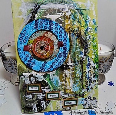 Find Your Might  Mixed Media Canvas Covered Panel. Ready to Ship