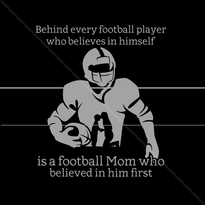 Behind Every Football Player Football Mom Believed Gift Idea Believed In Him