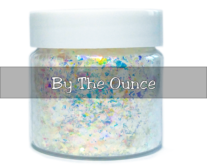 Moon Drops - Chunky White Iridescent Loose Cosmetic & Craft Glitter Mix