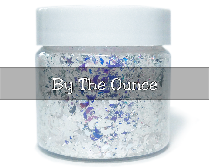 Dream A Little Dream - Star and Moon Silver Translucent  Glitter Mix