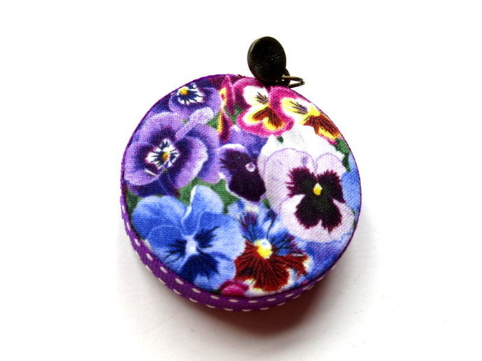 Tape Measure with Pansy Flowers Small Retractable Measuring Tape