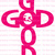 God is Good Cross Vinyl Decal Word Shaped Cross Sticker Christian