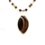 Woodland colors agate pendant necklace, green and brown stone necklace for Fall