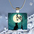 Pendant Necklace Moonlight Magic Dog under a Lamplight