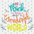And I think to myself, wonderful world, Song lyrics, Song lyrics art, louis