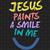 Jesus paints a smile in me, faith svg, faith hope love, hope svg, faith cross