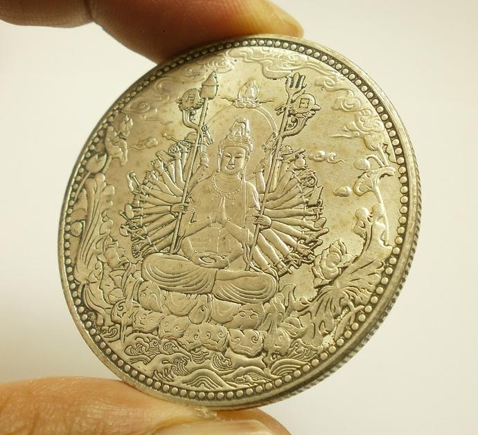 Guan yin Quan im Avalokitesvara Bodhisattva Chinese Big Coin 1000 hands Buddha