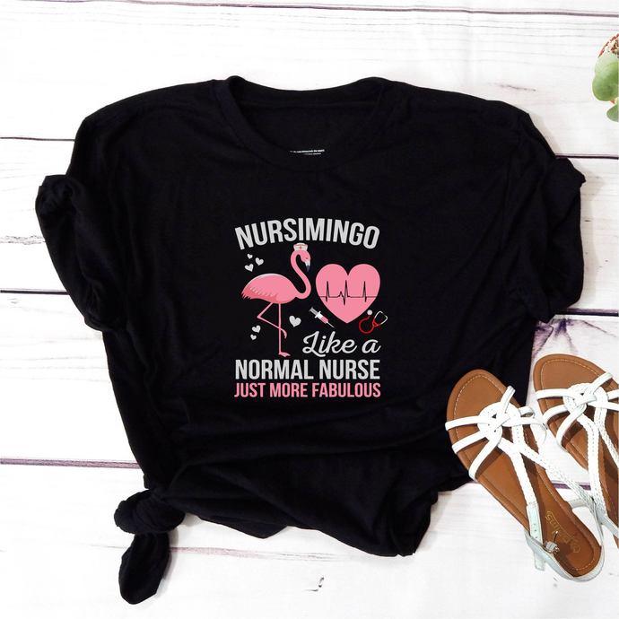 Nursimingo like a normal nurse, just more fabulous,Flamingo, flamingo svg, pink