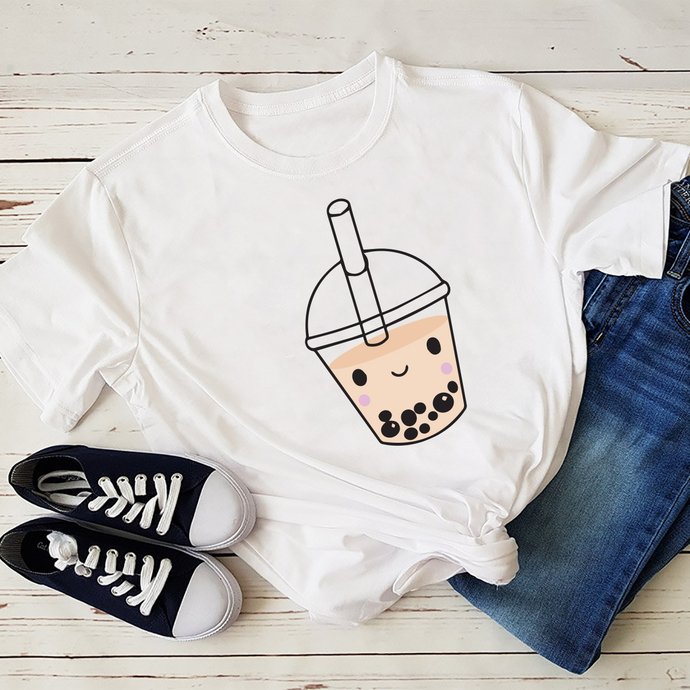 Cute Kawaii Bubble Tea Tshirt Boba Milk Tea Lover Gift Idea svg