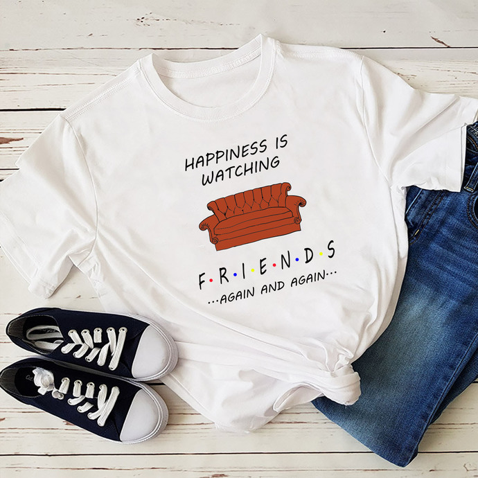 Happiness Is Watching Friends Again And Again Svg, Friends Shirt Svg, Gift For