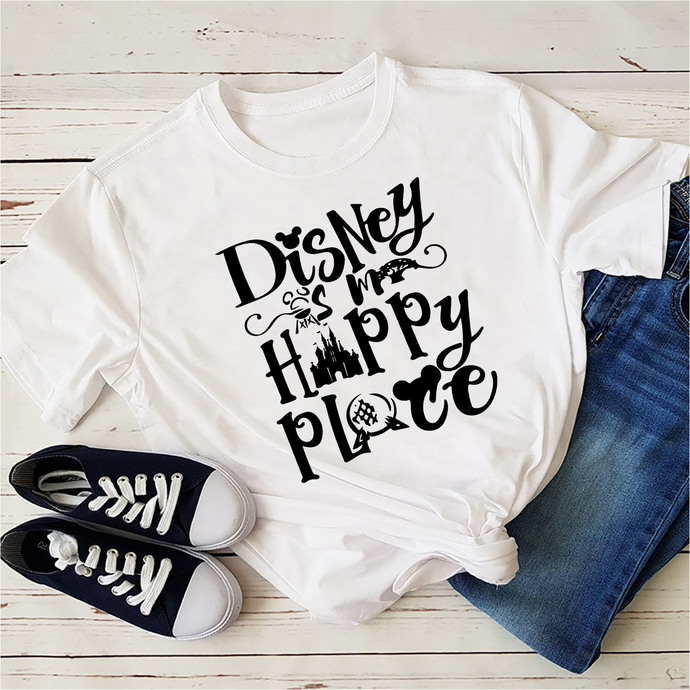 Disney Is My Happy Place, disney, disneyland, disney world, disney character,