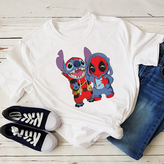Stitch And Baby DeadPool, Stitch svg, Deadpool, marvel, disney, marvel studio,