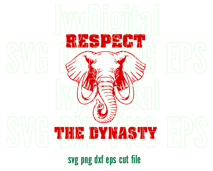 Respect the Dynasty Delta Sigma Theta Sorority SVG shirt DST Elephant sign 1913