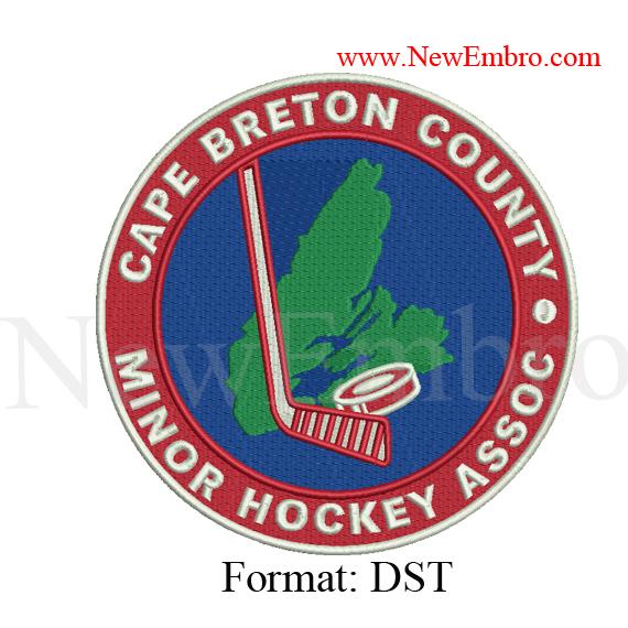 Custom embroidery design CAPE BRETON MINOR logo embroidery ,Custom embroidery