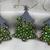 CHRISTMAS TREE ORNAMENTS- DOT ART CHRISTMAS ORNAMENTS. SET OF 3. SILVER SNOWFALL