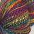 """Handspun yarn - """"Midnight Rainbow"""""""