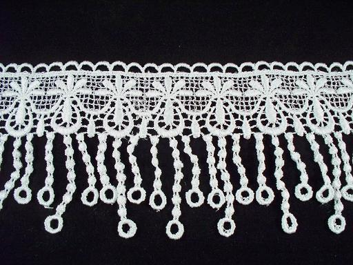 """1 Yard of 3-1/4"""" Venise Lace, White (WV-08)"""
