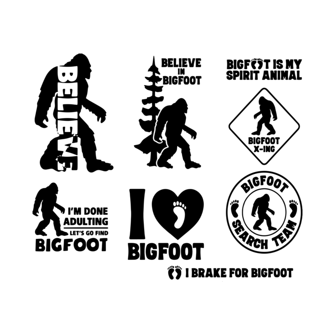 Bigfoot SVG and Cut Files for Crafters,Bigfoot Silhouette SVG, Bigfoot SVG,