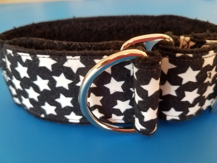 SMALL Glow in the Dark Wide Limited Slip Softie Dog Collar 10-12""