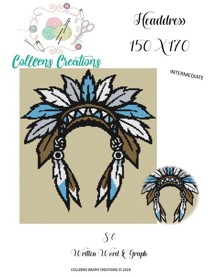 Headdress Crochet Written and Graph Design