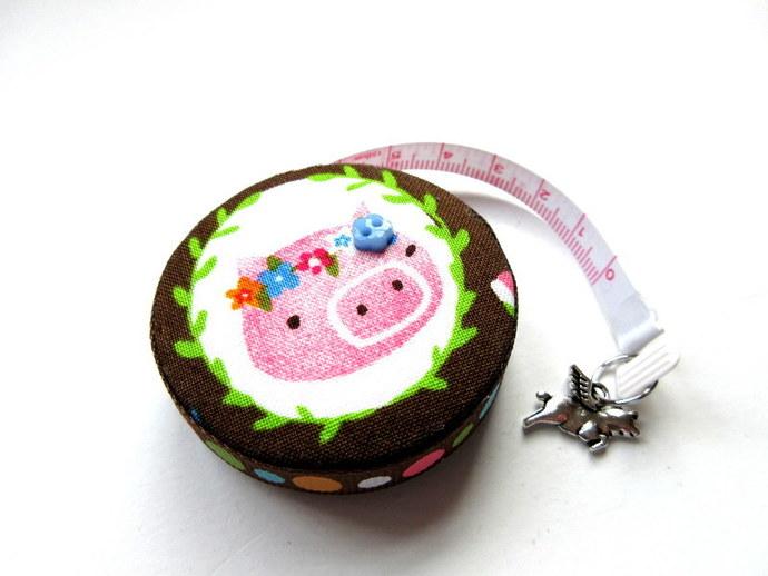 Tape Measure Flower Pigs Retractable Tape Measure