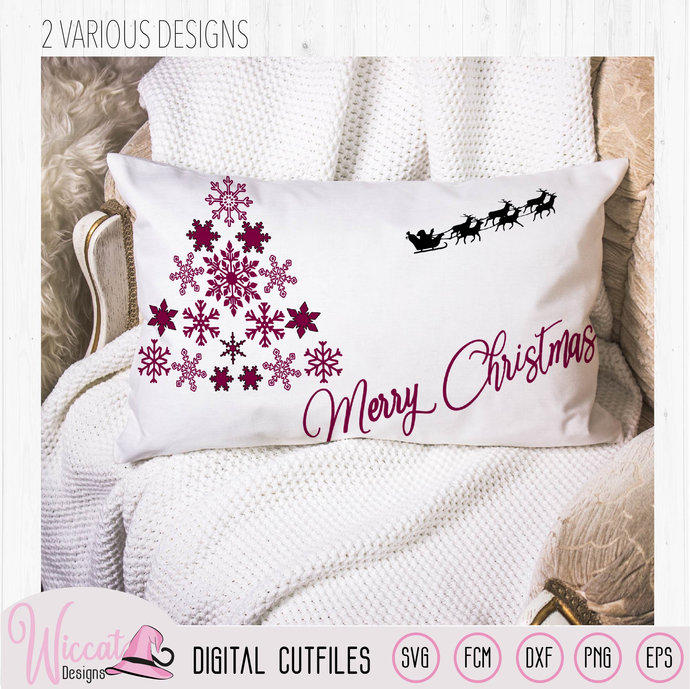 Snowflake Christmas tree, Merry christmas, Happy Christmas, christmas craft svg,