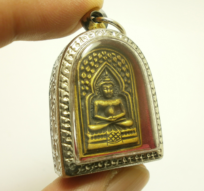 LP Ta coin Wat Paniangtak Temple blessed by disciple 1993 strong life protection