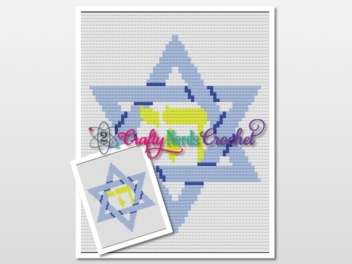 Star of David Chai Pattern Graph With  C2C Written