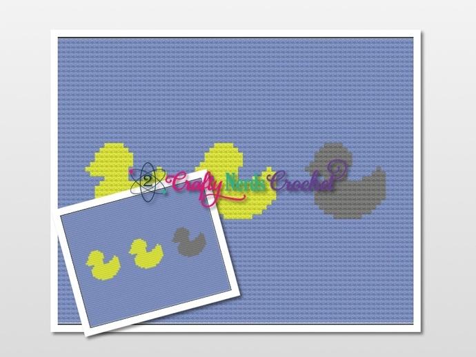 Duck Duck Grey Duck Pattern Graph With  C2C Written