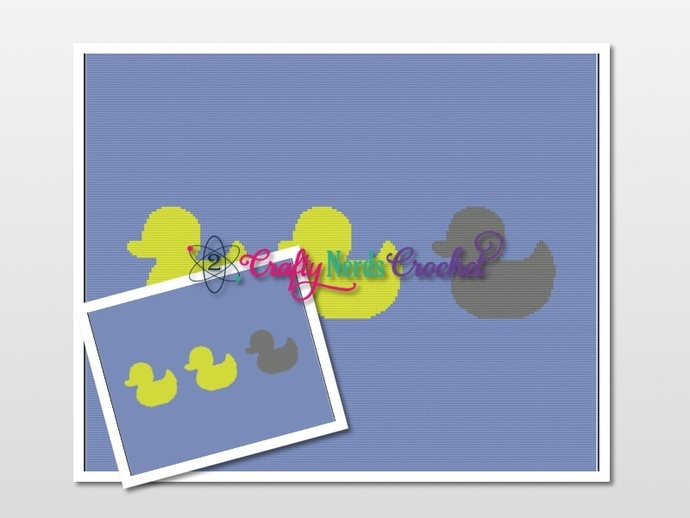 Duck Duck Grey Duck Pattern Graph with Single Crochet and TSS Written