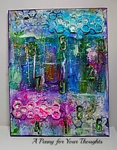 Count Us In Mixed Media Canvas Covered Panel. Ready to Ship