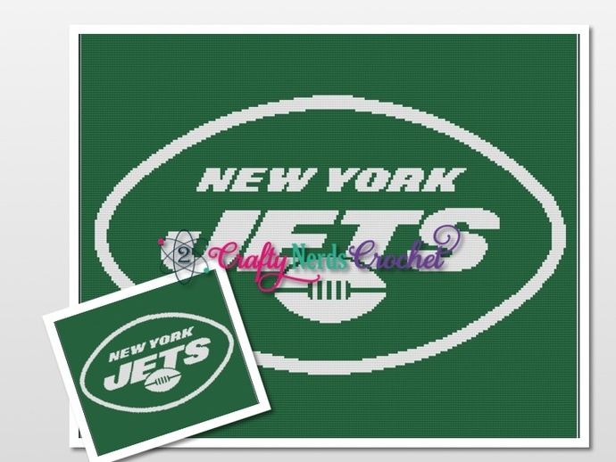 Ny Jets Pattern Graph With Single Crochet Written