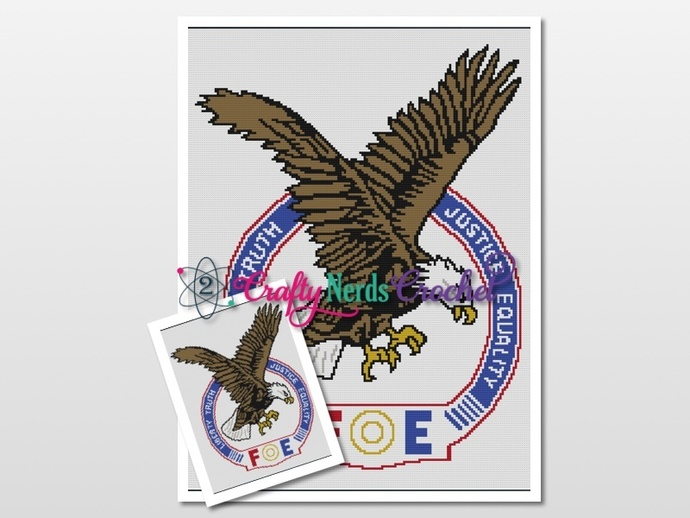 Fraternal Order Of Eagles Pattern Graph With Single Crochet Written