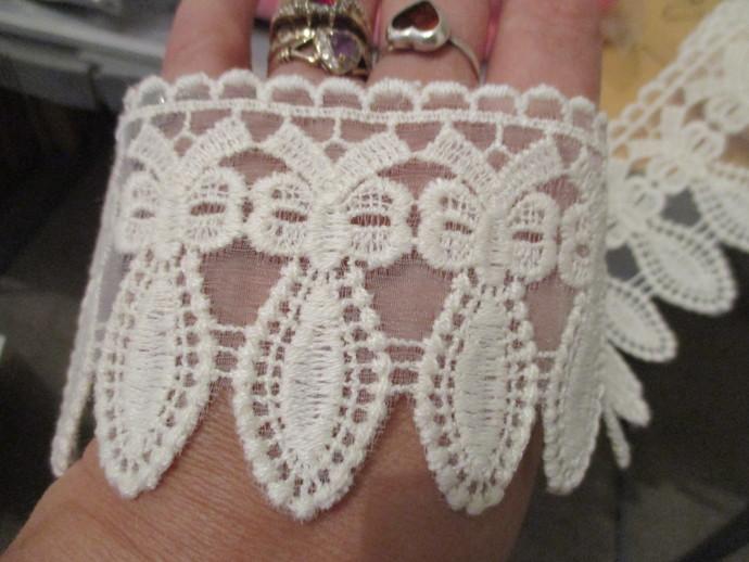 20 inches wide Cotton Lace Trim