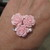 One x Pale Pink Triple Acrylic Rose & Diamante Flatback