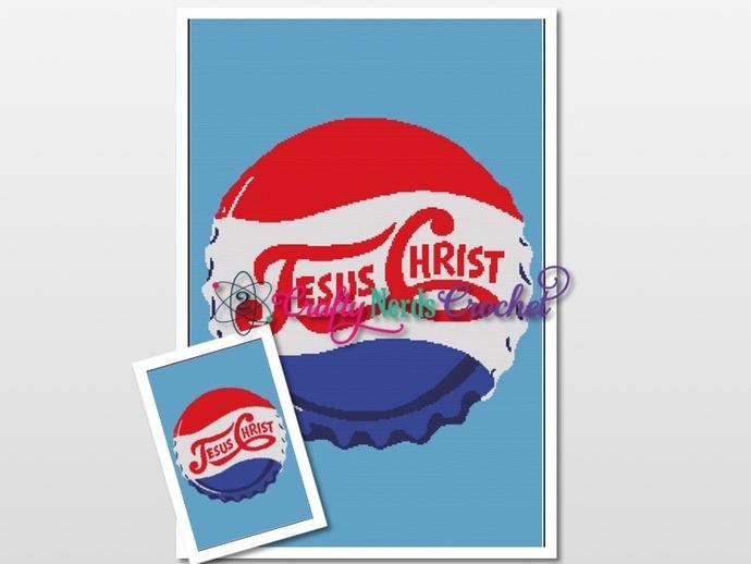 Jesus Christ Bottle Cap Pattern Graph With Single Crochet Written