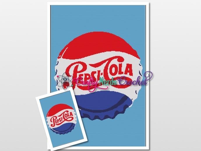 Pepsi Bottle Cap Pattern Graph With Single Crochet Written