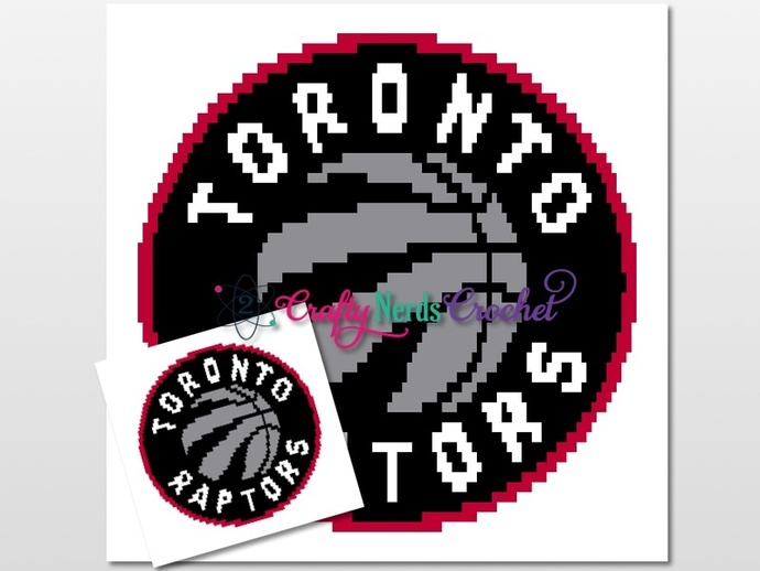 Toronto Raptors Pattern Graph With Double Crochet Written