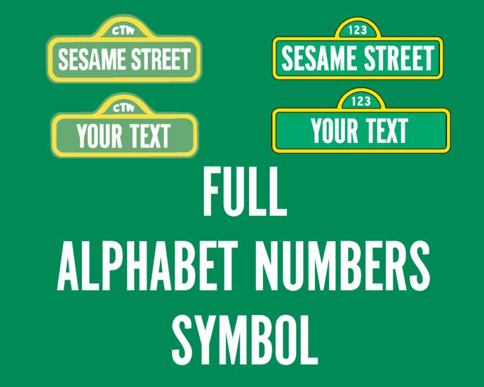 Sesame street font SVG Letters Sesame street Alphabet Number birthday invitation