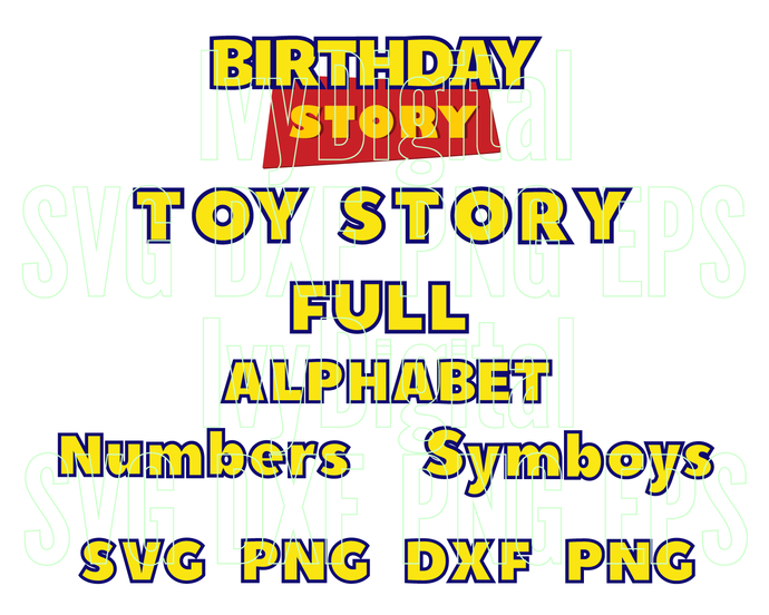 Toy Story Font SVG Toy Story Alphabet SVG Toy Story Letters SVG Numbers Toy