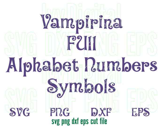 Vampirina Font SVG Vampirina Alphabet SVG Letter Numbers Birthday shirt decor