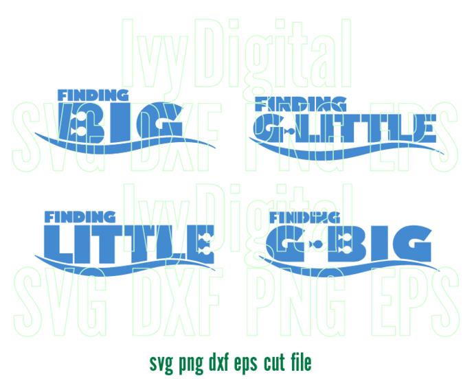 Big Little SVG Finding Dory Nemo G big G Little print Sorority family Sister T