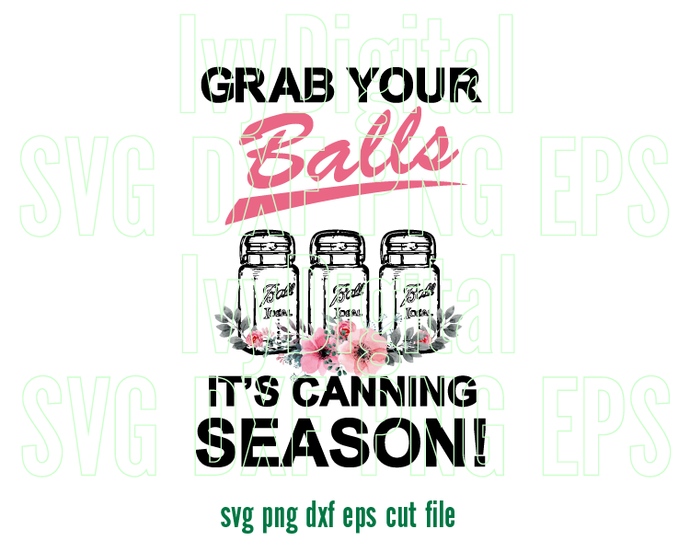 Grab your balls It's canning season svg canning jars t shirt canning labels
