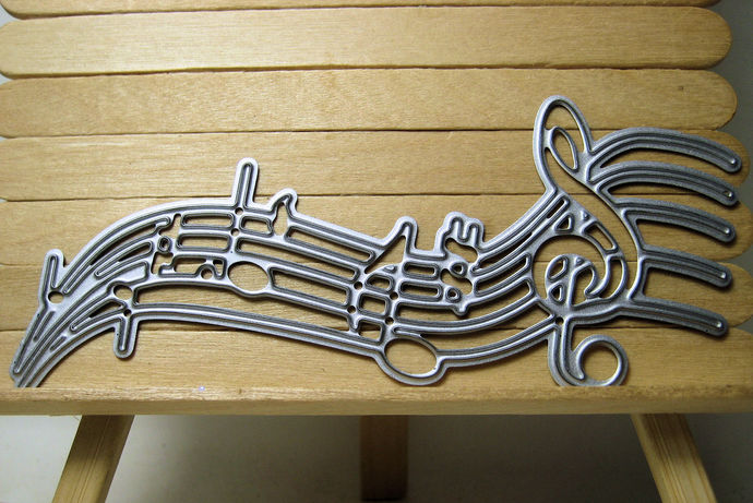 Wavy Music Scale Cutting Die