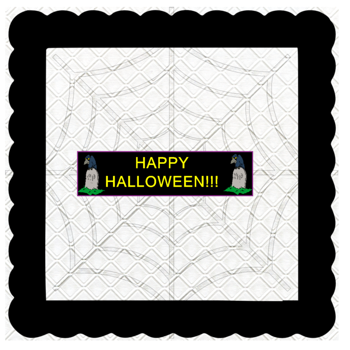 Halloween Banner C-Digital Kit-Jewelry Tag-Clipart-Gift Tag-Holiday-Digital