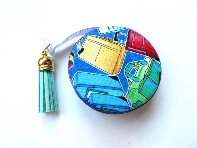 Tape Measure Travel and Luggage Theme Small Retractable Measuring Tape